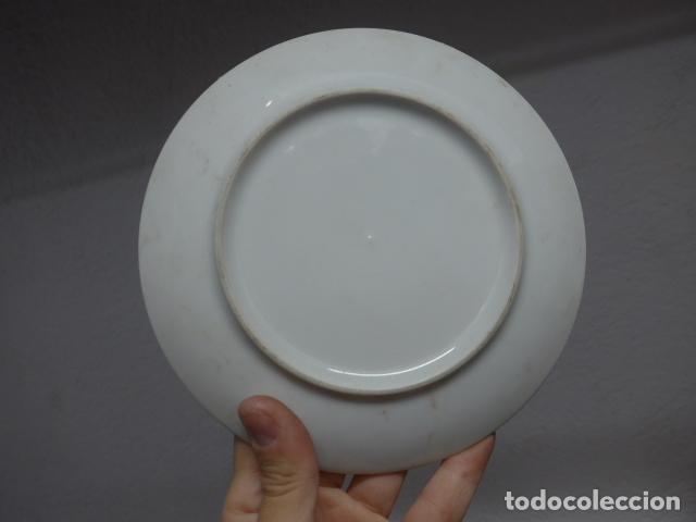 Militaria: Antiguo plato de porcelana de rey fernando VII y josefa amalia de sajonia - Foto 4 - 235193555