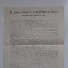 Militaria: COMISARIO GENERAL EXPLORADORES DE ESPAÑA BOY SCAUT A JEFES E INSTRUCTORES TROPA 1927 RV. Lote 235201250