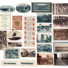 Militaria: LOTE MAS DE 100 ARTÍCULOS DEL FRENTE. 1º GUERRA MUNDIAL. FOTOGRAFÍAS, PUBLICIDAD, RECORTES PRENSA.. Lote 235835200