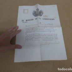 Militaria: ANTIGUA CONCESION 1865 MEDALLA CRUZ 1A CLASE A CONSUL DE ESPAÑA EN BEYRUT Y JERUSALÉN, ISABEL II. Lote 235851265