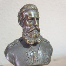Militaria: BUSTO DEL KAISER FEDERICO III DE ALEMANIAN EN BRONCE MACIZO. Lote 235919325