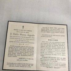 Militaria: RECORDATORIO ESQUELA , E. BLANCO ARGUDIN, ASESINADO POR HORDAS MARXISTAS, JAEN 10/9/1936, G.CIVIL. Lote 236120305