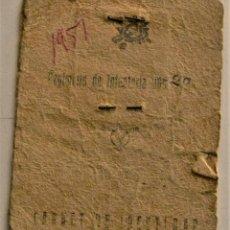 Militaria: CARNET DE IDENTIDAD REGIMIENTO DE INFANTERÍA DE LÍNEA GUADALAJARA Nº 20 - AÑO 1951. Lote 241232250