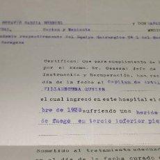 Militaria: DOCUMENTOS GUERRA CIVIL DE EMILIO VILLAESCUSA QUE FUE JEFE DEL ESTADO MAYOR DEL EJERCITO VER DESCRI. Lote 241475250