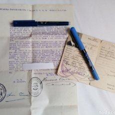 Militaria: BENILLUP. ALICANTE. MILICIAS FALANGE. 1940. CARTILLA Y CARTA RECOMENDACIÓN JEFE LOCAL FET Y ALCALDE. Lote 241935500