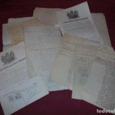 Militaria: MAGNIFICOS ANTIGUOS 10 DOCUMENTOS DEL CUERPO DE CARABINEROS. Lote 243170705