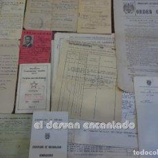 Militaria: LOTE DOCUMENTACION ANTIGUO AGENTE DE POLICIA PROTECTORADO ESPAÑOL DE MARRUECOS.. Lote 243549065