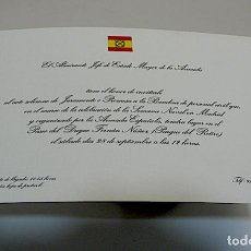 Militaria: INVITACION DEL ALMIRANTE JEFE MILITAR DE LA ARMADA. Lote 244570810