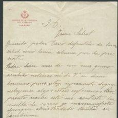 Militaria: CARTA OFICIAL DE UN SOLDADO AÑO 1916 PARQUE DE INTENDENCIA DEL EJERCITO LARACHE. Lote 34527983