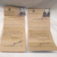 Militaria: SALVOCONDUCTOS PARA CATALUÑA EXCEPTO FRONTERAS AÑO 1940 GOBIERNO CIVIL BARCELONA. Lote 244662105