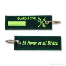 Militaria: LLAVERO DE EMPLEO DE CABO 1º DE LA GUARDIA CIVIL BORDADO GRAN CALIDAD. Lote 244811800