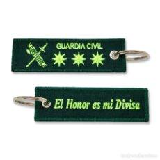 Militaria: LLAVERO DE EMPLEO DE CORONEL DE LA GUARDIA CIVIL BORDADO GRAN CALIDAD. Lote 244812800