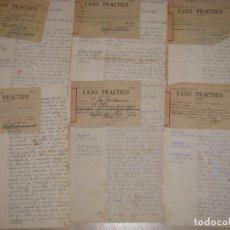 Militaria: 6 CASOS PRÁCTICOS DE ATESTADOS DE GUARDIA CIVIL. 1958.. Lote 244844130