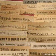 Militaria: HOJAS DE FILACIONES. HOJAS DE CASTIGO REGIMIENTOS DE LOS AÑO 40.. Lote 245076210