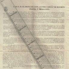 Militaria: 1936,42,47/50 CA., 48 LOTE 4 DOCUMENTOS DIVERSOS AÑOS PROPAGANDA E INFORMACIÓN CARLISTA Y REQUETÉS. Lote 245714595