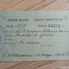 Militaria: CARNET MILITAR EJERCITO ÉPOCA ALFONSO XIII. GUERRA MARRUECOS.LEGION.INFANTERIA.ARTILLERIA.FRANCO.REY. Lote 246213585