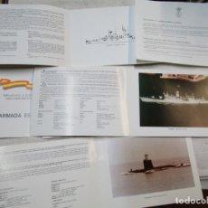 Militaria: ARMADA ESPAÑOLA - LOTE 5 TARJETONES BIENVENIDO A BORDO, EDITA AJEMA + INFO. Lote 246345745