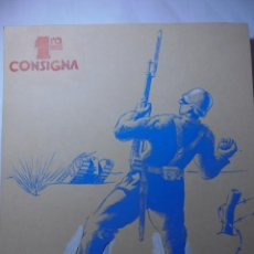 Militaria: MAGNIFICO CARTEL MAQUETA DIBUJO ORIGINAL 1ª CONSIGNIA,GUERRA CIVIL ESPAÑOLA 1936. Lote 247007100