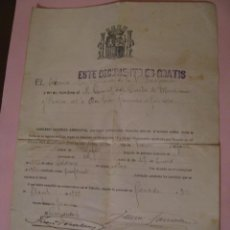 Militaria: LICENCIA ABSOLUTA POR HABER PERTENECIDO 18 AÑOS EN EL SERVICIO MILITAR. 1914-1932.. Lote 248092450