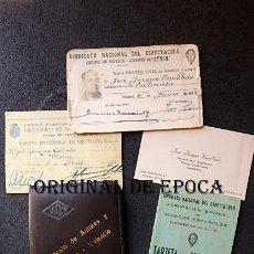 Militaria: (JX-210350)DOCUMENTACIÓN DEL MÚSICO Y COMPOSITOR VALENCIANO D.JOSÉ JARQUE CUALLADÓ,CARNET U.G.T.. Lote 248741065