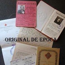 Militaria: (JX-210371)DIVERSOS DOCUMENTOS DE DAMA ENFERMERA DE LA CRUZ ROJA ESPAÑOLA,GUERRA CIVIL.. Lote 249262940