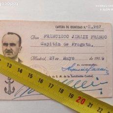 Militaria: FRANCISCO JARAIZ FRANCO,CAPITAN DE FRAGATA.CARTA IDENTIDAD 2967 DE 27-05-59.SOBRINO FRANCISCO FRANCO. Lote 252233205