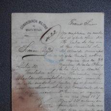 Militaria: GUERRA CUBA MANUSCRITO AÑO 1898 REQUISAN RES POR PARTE DE LA GUERRILLA. Lote 253129340