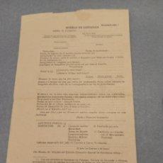 Militaria: MODELO INSTANCIA EJÉRCITO PRINCIPIOS AÑOS 40. Lote 253172595