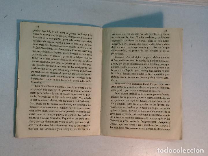 Militaria: Hernan García: Defensa de las órdenes militares de Calatrava, Santiago, Alcántara y Montesa (1862) - Foto 3 - 253582290