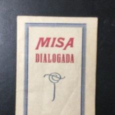 Militaria: HUESCA , ARAGÓN , 1939 , MISA DIALOGADA , SECCIÓN MENORES , FALANGE . TIP. VDA. PEREZ. Lote 254389790