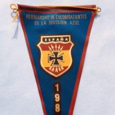 Militaria: ANTIGUO Y ORIGINAL BANDERIN,BANDERA EXCOMBATIENTES DE LA DIVISIÓN AZUL,DIVISIONARIO 1981,FRANCO,FALA. Lote 254393895