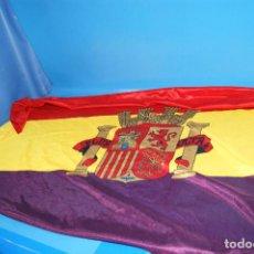 Militaria: BANDERA REPUBLICANA ESPAÑOLA MEDIDAS 70X125 CM BUEN ESTADO. Lote 254466020