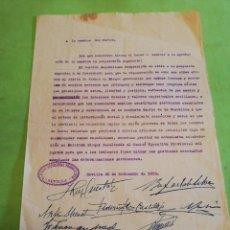 Militaria: DOCUMENTO FORMACIÓN PARTIDO POLÍTICO REPUBLICANO SEVILLA 1932. Lote 254691475