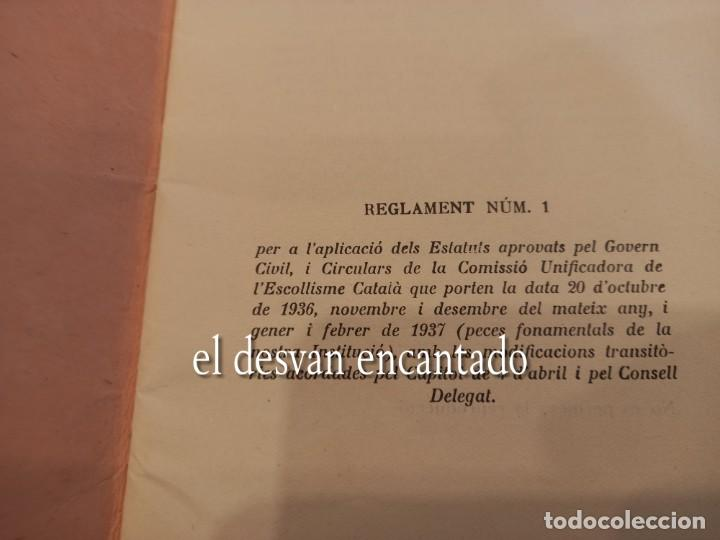 Militaria: BOY SCOUTS DE CATALUNYA. Reglament nº 1. Any 1937. Ejemplar numerado: nº 99 - Foto 2 - 255399065