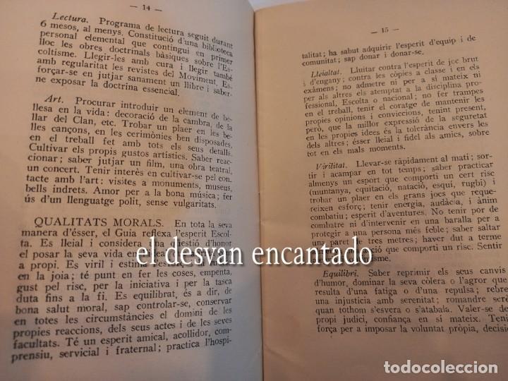 Militaria: BOY SCOUTS DE CATALUNYA. Reglament nº 1. Any 1937. Ejemplar numerado: nº 99 - Foto 3 - 255399065