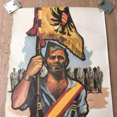 Militaria: CARTEL POSTER PROPAGANDA DE LA LEGIÓN POR DELFIN SALAS ORIGINAL CON SELLO. Lote 255663025