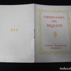 Militaria: 1936 ORDENANZA DEL REQUETÉ GUERRA CIVIL CARNET CARLISMO. Lote 255663500