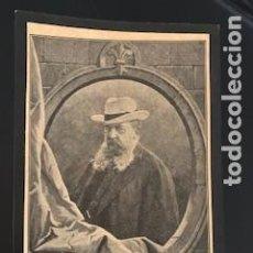 Militaria: CARLISMO .RECORDATORIO FUNERAL DE D. CARLOS DE BORBÓN Y AUSTRIA DE ESTE. OLOT. 1909. Lote 255941870