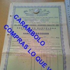 Militaria: EL OCASO POLIZA BARCELONA 1956 U34. Lote 257520085