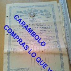 Militaria: EL OCASO POLIZA SEVILLA 1956 U34. Lote 257520550