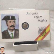 Militaria: CARNET TENIENTE CORONEL ANTONIO TEJERO MOLINA (CON MONEDA EN MINIATURA ÁGUILA SAN JUAN) ESPAÑA. Lote 257706360