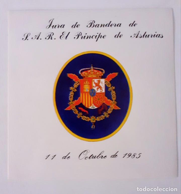 Militaria: Dos Pegatinas MILITAR JURA DE BANDERA DE S.A.R. EL PRINCIPE DE ASTURIAS. 11 de Octubre 1985 - Foto 3 - 258502535