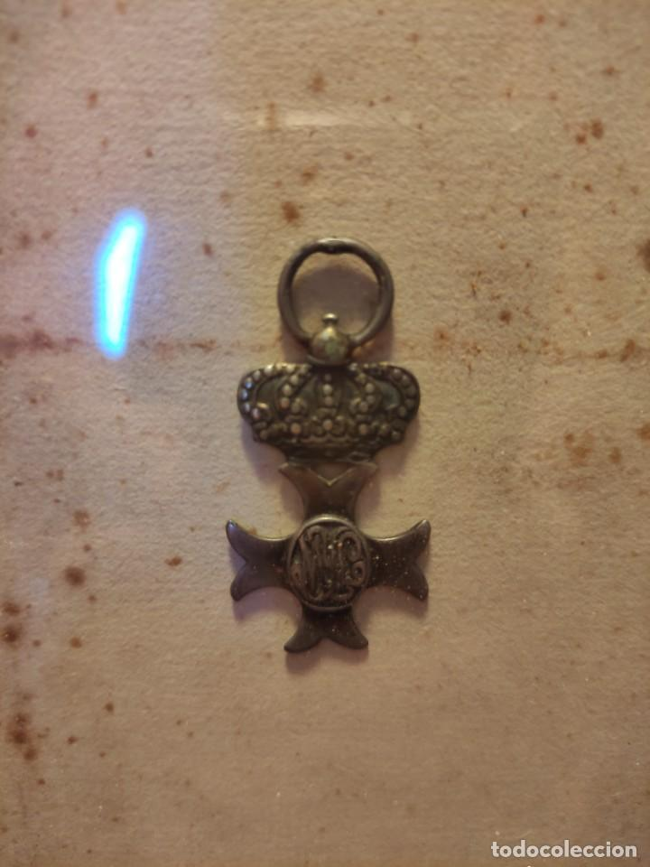 Militaria: Diploma de Isabel María Luisa con medalla al valor - Foto 6 - 261103460