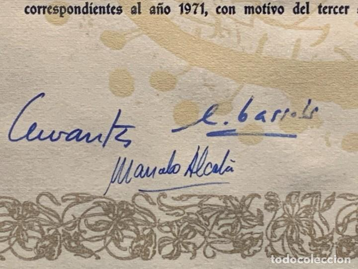 Militaria: CONCESION TITULO SIETE SOLES ORO IBERIAN DAILY SUN LOPEZ BRAVO MINISTRO EXTERIOR FRANCO 1972 32X44CM - Foto 5 - 261153275