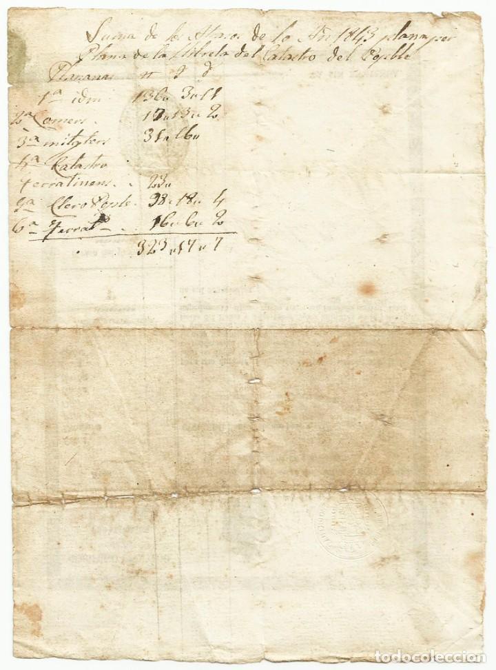 Militaria: SEGUNDA GUERRA CARLISTA. LLIÇÀ DAMUNT (BARCELONA) 1847, PASE O SALVOCONDUCTO DE VIAJE. LOTE 0011 - Foto 2 - 261568115