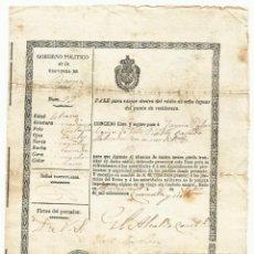 Militaria: SEGUNDA GUERRA CARLISTA. LLIÇÀ D'AMUNT (BARCELONA) 1847, PASE O SALVOCONDUCTO DE VIAJE. LOTE 0011. Lote 261568115
