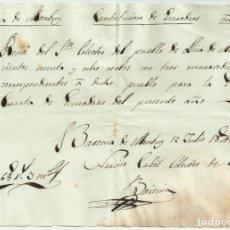 Militaria: SEGUNDA GUERRA CARLISTA. LLICÀ D'AMUNT-BARONIA DE MONTBUI (BARCELONA) 1846. DOCUMENTO LOTE 0012. Lote 261574385