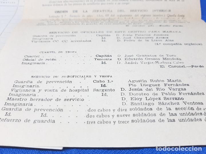 Militaria: DOCUMENTOS DE LA ACADEMIA GENERAL MILITAR DE ZARAGOZA AÑO 1951, ORDEN DE LA JEFATURA. - Foto 6 - 261949640