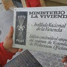 Militaria: PLACA MINISTERIO DE LA VIVIENDA. Lote 262816820