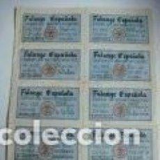 Militaria: REPRODUCION FACSIMIL CUPONES DE RACIONAMIENTO LOCALIDAD BUJALANCE CORDOBA. Lote 262822940
